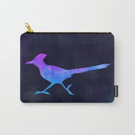 ROADRUNNER IN SPACE // Animal Graphic Art // Watercolor Canvas Painting // Modern Minimal Cute Carry-All Pouch