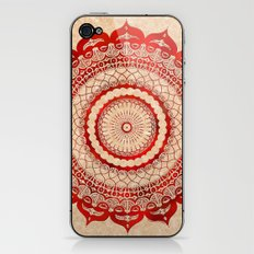 omulyána red gallery mandala iPhone & iPod Skin