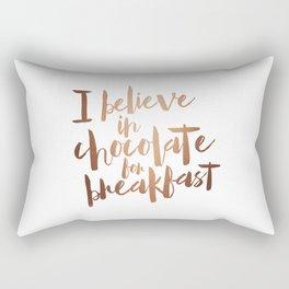 i believe in chocolate Rectangular Pillow