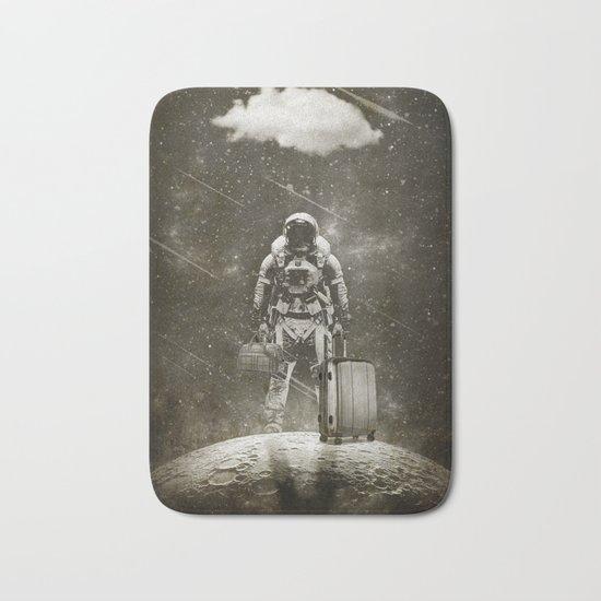Space Traveller sepia Bath Mat