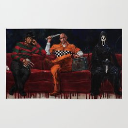 Three Killers Chilling Rug