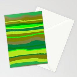 Green Multi Brush Strokes Stationery Cards