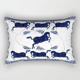 Ancient Greek Fresco - Navy Rectangular Pillow