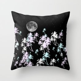 Tropical night Throw Pillow
