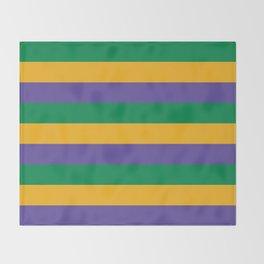 Mardi Gras Rugby Stripe Throw Blanket