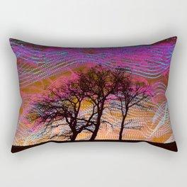 Disco Dancing Trees Rectangular Pillow