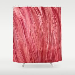 Pink Feather Texture Shower Curtain