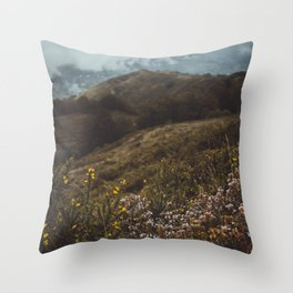 Wildflowers in autumn Throw Pillow