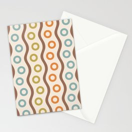 Mid Century Modern Rising Bubbles Pattern 102 Stationery Cards