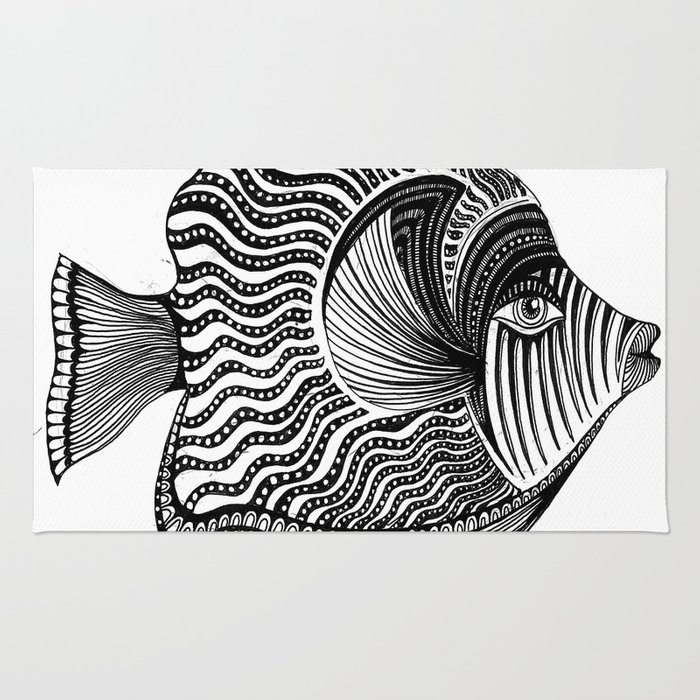 Emperor Angelfish Rug
