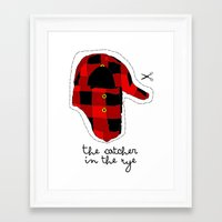 catcher in the rye Framed Art Prints featuring Catcher in the Rye by Marianna