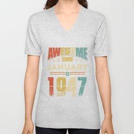 Awesome Since January 1947 T-Shirt Unisex V-Neck