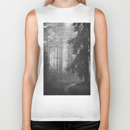 The Forest (Black and White) Biker Tank