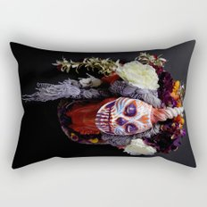 Tiger Blossom Muertita Rectangular Pillow