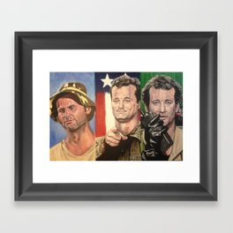 Triple Bill Framed Art Print