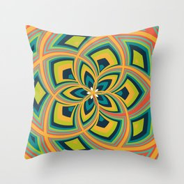 Spiral Rose Pattern C 4/4 Throw Pillow