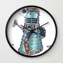 Skate and Exterminate Wall Clock