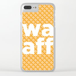 twat waffle Clear iPhone Case