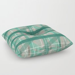 Turquoise Mermaid Plaid Floor Pillow