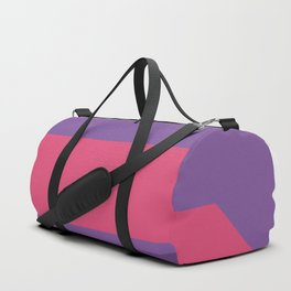 Triangle fragment ribbon title box Duffle Bag