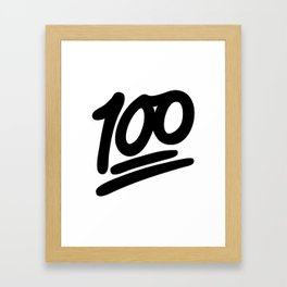 100 EMOJI BLACK Framed Art Print