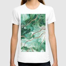 Liquid Marble Glitter Glam #1 (Faux Glitter) #decor #art #society6 T-shirt