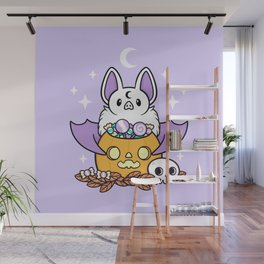 Pumpkin Bat Wall Mural
