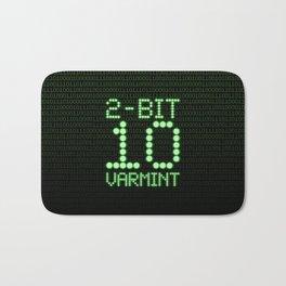 2-Bit Varmint / Binary vermin team code Bath Mat