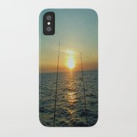fishing iPhone & iPod Cases featuring FISHING by aztosaha