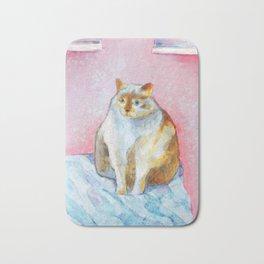 Polite Chunky Cat Bath Mat