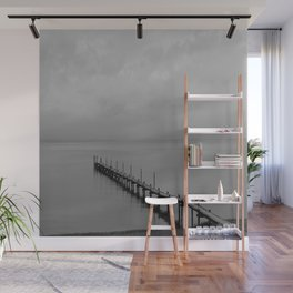 Misty Morning At The Lake Wall Mural