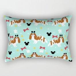 cavalier king charles blenheim coat theme park lover dog breed Rectangular Pillow