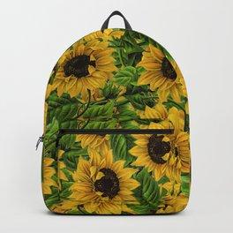 Vintage & Shabby Chic - Sunflowers Flowe Garden Backpack