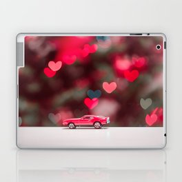 red car on the table at the love background Laptop & iPad Skin