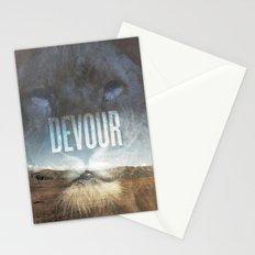 Devour Nature Like A Lion Stationery Cards