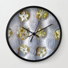Elderflowers on cloth Wall Clock