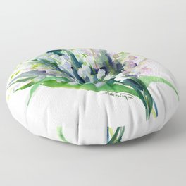 Lilies of the Valley, spring floral design flowers sring design wood flowers Floor Pillow