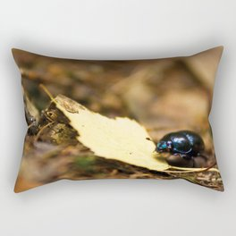 Beetle and his journey Rectangular Pillow