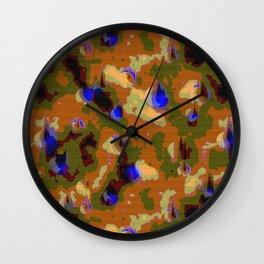 Camo Pattern Wall Clock
