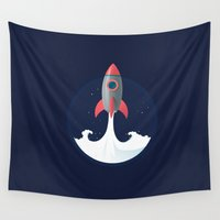 rocket Wall Tapestries featuring Rocket by NextDesigns