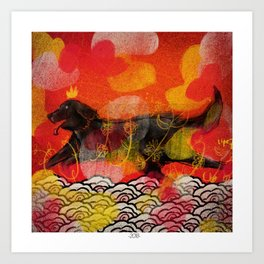 Happy New Year of the Dog Art Print
