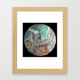 Cell Planet Framed Art Print