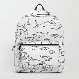 Fish Outline Backpack