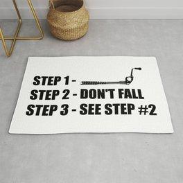 Ice Climbing - Don't Fall Rug