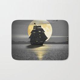 A ship with black sails Bath Mat