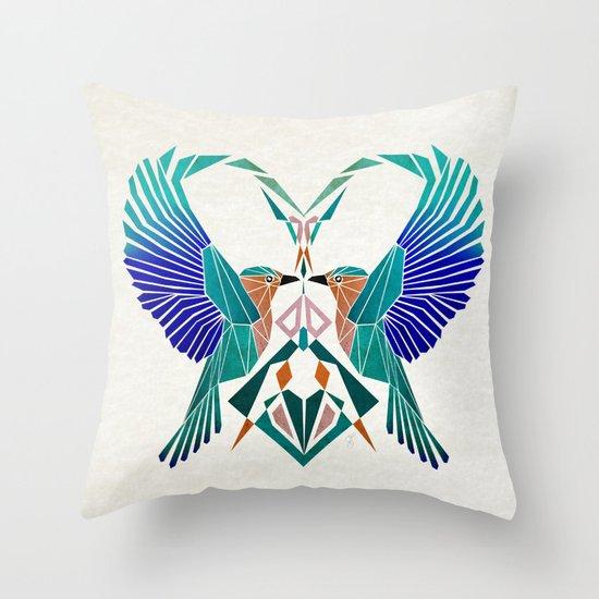 couple of blue birds Throw Pillow