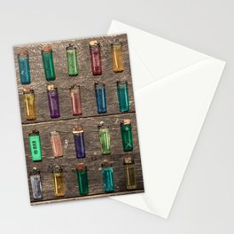 Grid of found Beach Lighters from Cambodia Stationery Cards