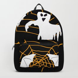 Bats and Ghost white - black color Backpack