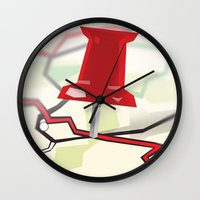 paper towns Wall Clocks featuring Paper Towns by dreki