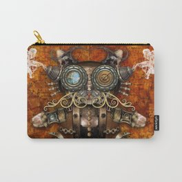 Cacotopia Steampunk Kitty - brass Carry-All Pouch